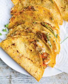 Squash Blossom Quesadillas Recipe from @leitesculinaria