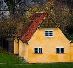 Danish house - I love the color and the roof!