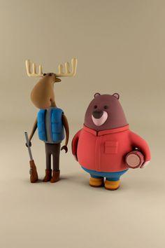 toy design Woodlands on Beh - toys Simple Character, Game Character, Character Concept, Bear Character, Tinker Toys, Modelos 3d, 3d Artwork, Vinyl Toys, Art Graphique