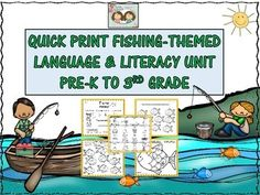This is a brand new unit that is designed to advance a variety of vocabulary, language and literacy skills in your students.  We hope that you all have a lot of fun as you go fishing for improved skills in your students by doing these activities and worksheets!