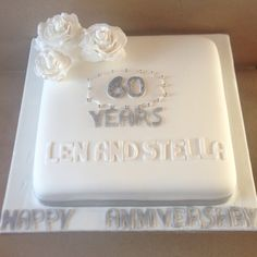Diamond Anniversary cake, celebrating 60 years married.