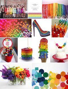 Rainbow wedding!  <3
