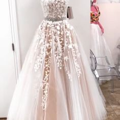 Tulle and Lace Formal Dresses Prom Dresses Wedding Party Dresses Gorgeous Prom Dresses, Princess Prom Dresses, Strapless Prom Dresses, V Neck Prom Dresses, Elegant Prom Dresses, Lace Evening Dresses, Prom Dresses Online, Cheap Prom Dresses, Wedding Party Dresses