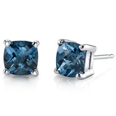 MSRP:$399.99    Our Price:$299.99    Savings: $100.00        Item Number: E18482-E19112    Availability:Usually Ships in 5 Business Days            Product Description:    These beautiful earrings for her feature Cushion Cut Genuine Swiss Blue Topaz Gemstones with a Lagoon Blue Hue with Brilliant Sparkle in 14k White Gold Round and are essential for any girl's jewelry collection. These gorgeous studs are fashioned into sleek white gold four-pronged mount. Fit is secure and comfortable…