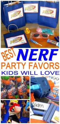 Calling all Nerf gun fans….here are the BEST Nerf party favors. If you are planning a Nerf gun theme party and looking for amazing party favor ideas then you will want to check out these incredible ideas. Nerf Birthday Party, Nerf Party, Summer Birthday, Party Favor Bags, Birthday Favors, Birthday Party Favors, Goodie Bags, Boy Birthday, Birthday Ideas