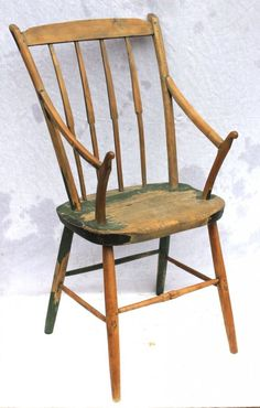 late 18th/early 19thC unusual Quebec Windsor armchair