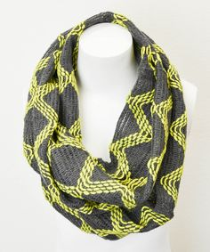 Take a look at this Leto Collection Neon & Smoke Diamond Infinity Scarf on zulily today!