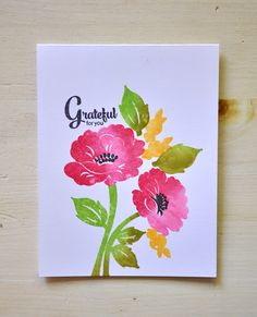 Grateful For You Card by Maile Belles for Papertrey Ink (July 2015)