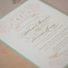 Vintage Wedding Invitation, Country Lush, Shabby Chic, Rustic Vintage Elegance with bakers twine and monogram tag.