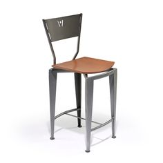 ST-120 Stool with Back by Createch Design