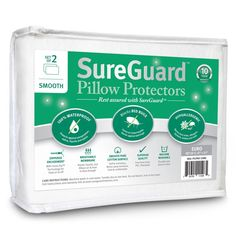 Set of 2 Standard Size SureGuard Pillow Protectors - Waterproof, Bed Bug Proof, Hypoallergenic - Premium Zippered Cotton Terry Covers - 10 Year Warranty *** Special offer just for you. : Children's Room Home Decor Mattress Covers, Mattress Protector, Pillow Set, Pillow Covers, Pillos, Thing 1, Feather Pillows, Toddler Travel, Pillow Protectors