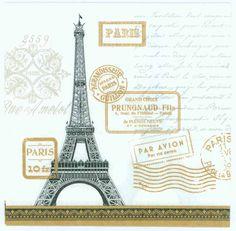 Decoupage Napkins of Eiffel Tower Rendezvous  1