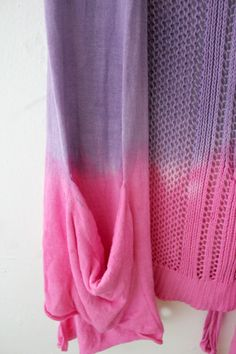 Ombre Dip Dye Purple and Pink Womens or Girls XL Sleeveless Sweater