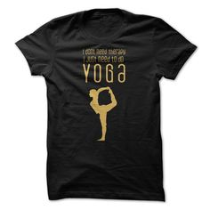 T shirt with Quote: Yoga is the Best Therapy