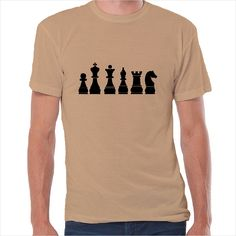 Camiseta friki piezas ajedrez