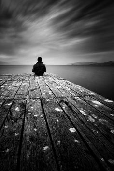 End of the Pier - Black and White Photography