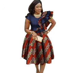 Ankara African Big Size Traditional Dresses for Women 2018 Dashiki Elegant Bohemian Beach Dress Vestido Sexy African Clothes African Fashion Designers, African Fashion Ankara, Latest African Fashion Dresses, African Print Fashion, African Dashiki, Africa Fashion, African Style, African Dresses For Kids, African Dresses For Women