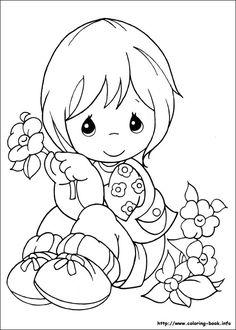 precious moments coloring picture