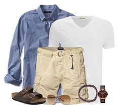 Summer for Dad by moosegodstiel on Polyvore featuring Birkenstock, We Are All Smith, Emporio Armani, Burberry, American Vintage, Banana Republic, Scotch & Soda, Summer, mens and mensclothing