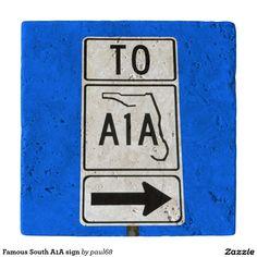 Famous South A1A sign Trivets