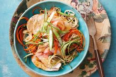 Miso-glazed chicken with noodle salad
