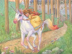Let's Ride by Candace Camling 2014 #unicorn #illustration