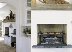 fireplace in kitchen ideas - Google Search