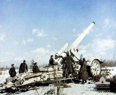 21 cm Mrs 18 heavy howitzer, Soviet Union, date unknown; Source: Australian War Memorial; ID: 044589