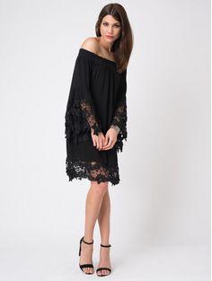 Jolie Black Floral Dress