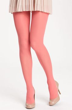 Cute peachy-pink tights!