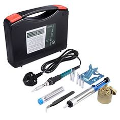 Soldering iron,Soldering iron kit,Soldering, Soldering Sponge with Violin Resin and Case Wood Burning Tool, Travel Bottles, Soldering Iron, Kit, Tools, Amazon Fr, Soldering, Appliance, Vehicles