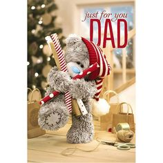 3D Holographic Dad Me to You Bear Christmas Card  £4.25