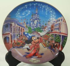 "Bradford Exchange Walt Disney World 25th Aniversary Main Street U.S.A.- 8""Plate in Collectibles, Disneyana, Contemporary (1968-Now) 