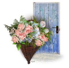 """""""Blue Door"""" by anjelakewell ❤ liked on Polyvore featuring art"""