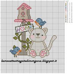 14 υπέροχα σχέδια με γάτες κεντημένες σταυροβελονιά   14 lovely cat cross stitch patterns   Κάνετε κλικ εδώ για να δείτε 21 ακόμη σχέδ...