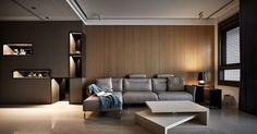 Home Decoration For Living Room Cafe Interior, Living Room Interior, Home Living Room, Living Spaces, Interior Design, Wood Interiors, Modern House Design, Contemporary Interior, Interior Architecture