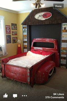 Hell Yes! Classic truck bed! So doing this for otto when he gets older!