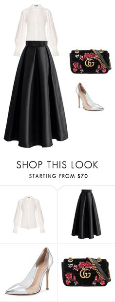 """""""#116"""" by luluuuuuuuuuu ❤ liked on Polyvore featuring Alexander McQueen, Chicwish, Gianvito Rossi and Gucci"""