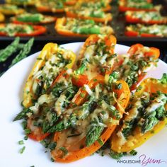 Asparagus Stuffed Mini Peppers (Low Carb, Gluten-free)