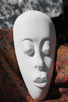 Steinguss Lombok Maske  verschiedene Farben von Lebensfreudeladen