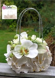 Discover thousands of images about Bolsa Flora III Photo Tutorial Ikebana, Decoration Evenementielle, Flower Decorations, Flower Bag, Flower Show, Deco Floral, Arte Floral, Creative Flower Arrangements, Floral Arrangements
