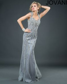 Jovani 73497 :: Art Deco 1920's Great Gatsby bridesmaids dress
