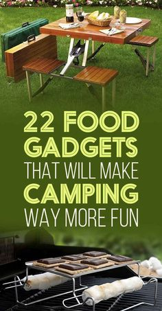 22 Food Gadgets That Will Make Camping Way More Fun. I might need the camping table. Makes me think of camping with my grandparents. Auto Camping, Best Camping Gear, Camping Items, Camping Glamping, Camping Supplies, Camping And Hiking, Camping Life, Camping With Kids, Family Camping