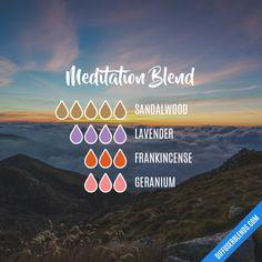 Meditation Blend - Essential Oil Diffuser Blend