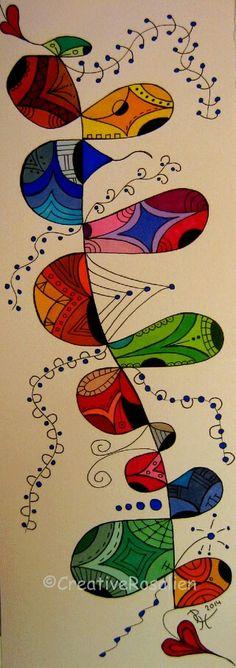 Multicolored Zentangle Art by Creative Roselien / https://creativerosalien.wordpress.com
