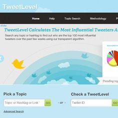 Sistema de influência gratuito para o twitter.    Acesse: http://tweetlevel.edelman.com/Home.aspx