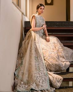 """Samsara on Instagram: """"Can we change the color?..how will this look in a red as a barat outfit?... Questions like these are very common amongst clients at bridal…"""" Asian Wedding Dress Pakistani, Pakistani Bridal Couture, Pakistani Dress Design, Pakistani Wedding Dresses, Pakistani Outfits, Bridal Lehenga, Indian Bridal, Indian Dresses, Anarkali Lehenga"""