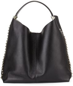 Rebecca Minkoff Stud-Trim Leather Hobo Bag