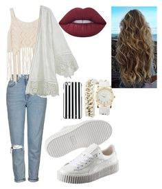 """""""#fashion"""" by multifandom01 ❤ liked on Polyvore featuring Topshop, Puma, Calypso St. Barth, MICHAEL Michael Kors, Lime Crime and Charlotte Russe"""
