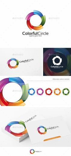 Colorful Circle / Spiral - Logo Template (AI Illustrator, Resizable, CS, camera, circle, colorful, colors, concept, connect, connection, creative, dynamic, lens, Letter O, marketing, media, modern, multimedia, photography, print, printing, software, spiral, studio, swirl, technology, unity, website)